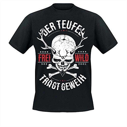 Freiwild Frei.Wild - Der Teufel trägt Geweih T-Shirt, schwarz, Größe S
