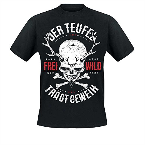 Frei.Wild - Der Teufel trägt Geweih T-Shirt, schwarz, Größe 4XL