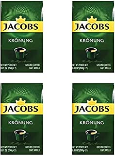 Jacobs Kronung Ground Filter Coffee 250 Gram / 8.81 Ounce (Pack of 4)