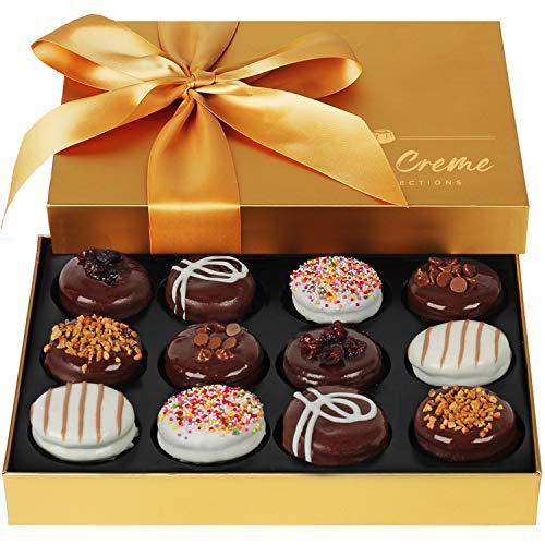 Hazel & Creme Chocolate Cookies Gift Basket - Gourmet Food Gift - Birthday, Thank You, Corporate, Holiday Gifting