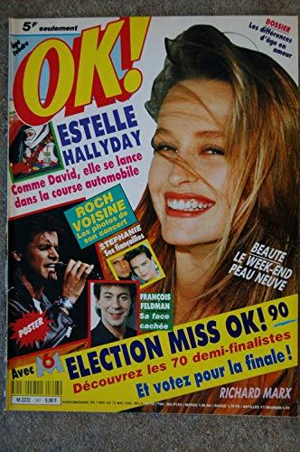 OK ! âge tendre 747 MAI 1990 COVER ESTELLE HALLYDAY POSTER ROCH VOISINE PAULINE ESTER RICHARD MARX STEPHANIE DE MONACO