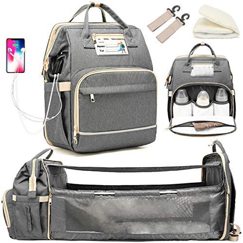 baby diaper bag backpack (Grigio)