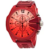 Diesel Mega Chief Chronograph Sport Strap Watch Red-Dz4534 One Size