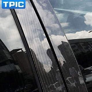 炭素繊維車の窓b-本柱装飾ステッカー用bmw e60 e90 f30 f10 f20 f07 e70 e84 e46車のスタイリングトリムアクセサリー