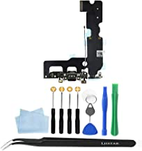 Ljistar Charging Port Replacement Kit + Repair Tools Compatible for iPhone 7 Plus (A1661, A1784, A1785) (Black)