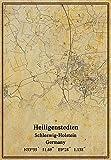 Kunstdruck auf Leinwand, Motiv Deutschland, Heiligenstedten Schleswig-Holstein, Vintage-Stil, ungerahmt, Dekoration, Geschenk, 30,5 x 40,6 cm