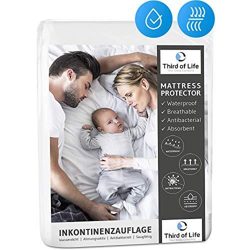 Inkontinenzunterlage waschbar 75x90cm | 100{c108c298dc1b5e0ffd0e98fc371acca1048a509b7a9ddb8b4b1553de6ebcd776} wasserdichte Matratzenauflage | Saugfähige Inkontinenz-Auflage für Kinder, Babys & Senioren | Atmungsaktiver Matratzenschutz und Bett-Unterlage 2er Pack