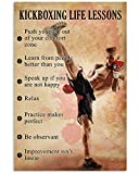 Poster, Motiv Kickboxen, Boxer mit roten Handschuhen,