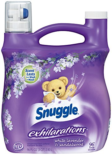 Snuggle Exhilarations Fabric Softener Liquid, White Lavender & Sandalwood, 96 Ounces, 96 Loads