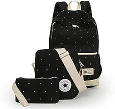 حقيبة ظهر مدرسية قماش للجنسين - لون اسود
