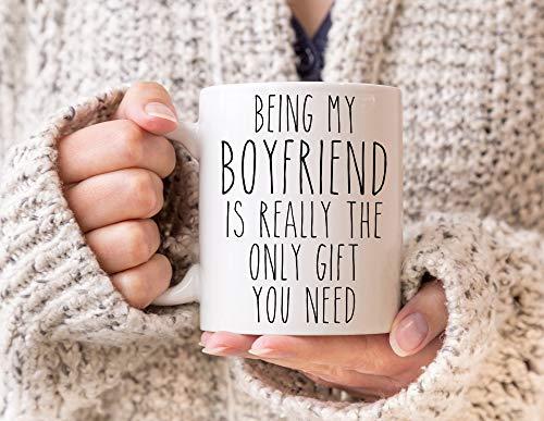 Funny Boyfriend Gift Idea for Valentines Day Gifts Boyfriend Mug from Girlfriend Best Boyfriend Ever Valentine Coffee Cup Birthday Present