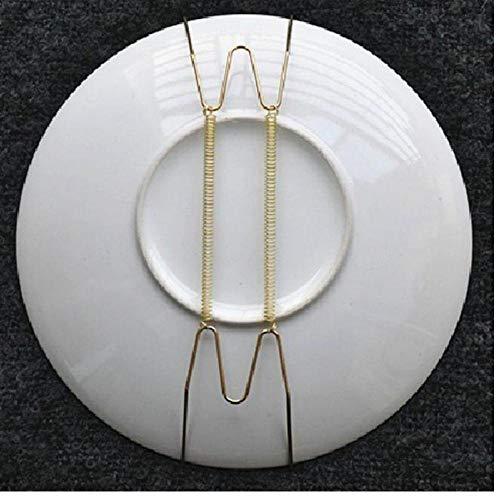 Oulensy 12inch Neue Wandtyp Platten-Teller Anzeige Aufhänger Halter Metall Invisible W-Typ Federteller Haken Hängen Hauptverzierenentwerfer Veranda Dekor