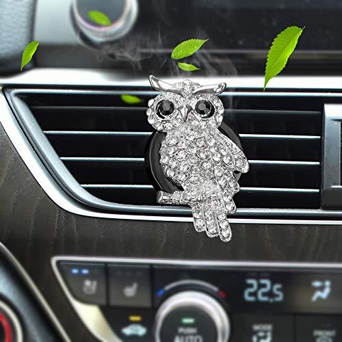 Auto-Styling Metall Perle Eule Kristall Parfüm Clip Air Vent Parfüm Auto Outlet Lufterfrischer Auto Lufterfrischer
