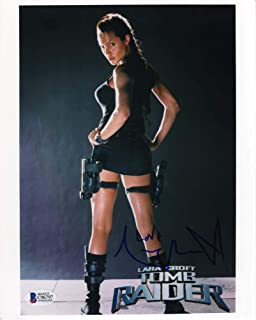 Angelina Jolie Tomb Raider Promo Signed 8x10 Photo Certified Authentic Beckett BAS COA