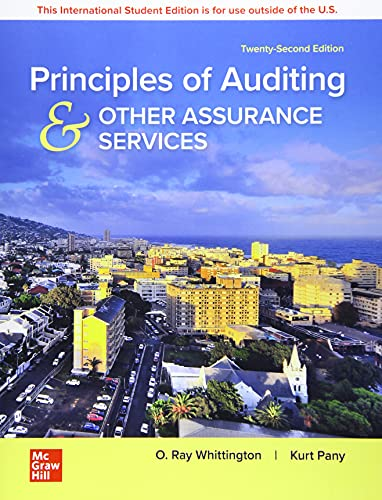 Compare Textbook Prices for Principles of Auditing & Other Assurance Services 22 Edition ISBN 9781260598087 by Ray Whittington,Kurt Pany