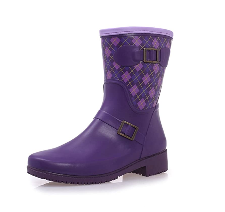 好きであるミルク担保[EIMEI] レインブーツ[レディース?ガールズ] 大人 女の子 ショット 雨靴 長ぐつ (23CM, 草色)