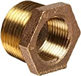 Anderson Metals - 38110-1208 Brass Threaded Pipe Fitting, Hex Bushing, 3/4' Male...