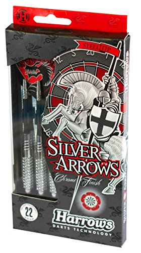 Harrows Silver Arrows Dartpfeil, verchromt, Herren, Silber, 26 g