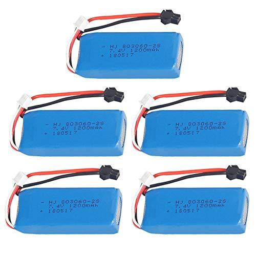 7 4V 1200mAh 30C H26-012 SM Plug Batteria Lipo per H26 H26C H26W H26D H26HW RC Quadcopter Drone-Rosso