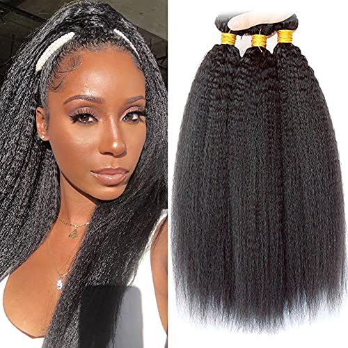 LAdiary echte haare 9A brazilian yaki hair Brazilain human hair 3 bundles brasilianische haare extensions 12 14 14 Zoll