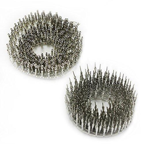 Aussel 200 Stück 2.54mm Pitch Male Female Steckverbinder Dupont Jumper Draht Kabel Pin Crimpanschluss (Male+Female)
