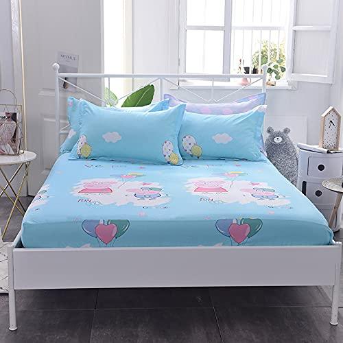 NTtie Protector de colchón/Cubre colchón Acolchado, antiácaros, Colcha de una Pieza de algodón