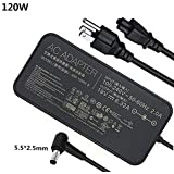 New 19V 6.32A 120w Laptop Charger Replacment Compatible ASUS ROG GL502VT GL502V GL502 GL502VT-DS71 Gaming Laptop ADP-120ZB BB, ADP-120RH B, PA-1121-28, A15-120P1A, N120W-02 Series Laptops