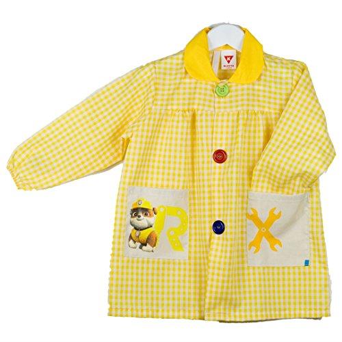 Klotzz - Grembiule da bambina, con stampa dei Paw Patrol giallo 2