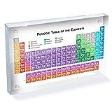 AAADRESSES Tabla Periódica Acrílica Exhibición Mesa, Tablero Exhibición Elementos Químicos...