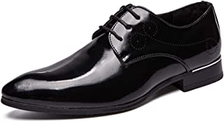 2018 Mens New Arrival Shoes, Men's Business Oxford Shoes, Casual Classic Simple Pure Color Sole Patent Leather Big Size Formal Shoes
