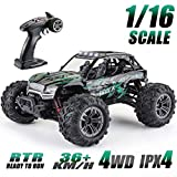 RC Truck 1: 16 All Terrain RC Car,36km/h 4WD Off-Road RC Trucks, 2.4Ghz High Speed RC Cars for Adults & Kids Radio Controlled Electronic Cars (Green)