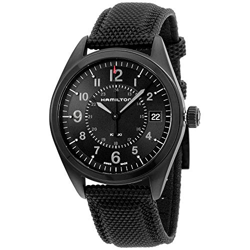 Hamilton Khaki Field Quartz Movement Black Dial Men's Watch H68401735