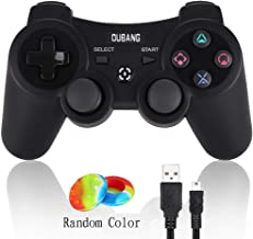 PS3 Controller Wireless Dualshock 3 - OUBANG Upgrade Version Best PS3 Games Remote Bluetooth Sixaxis Gamepad for PlayStation3 (Black)