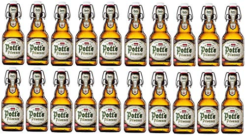 20 Flaschen Pott´s Pilsener Bügelflaschen inc.3.00€ MEHRWEG Pfand Münsterländer Orginal a 0,33l Pott´s
