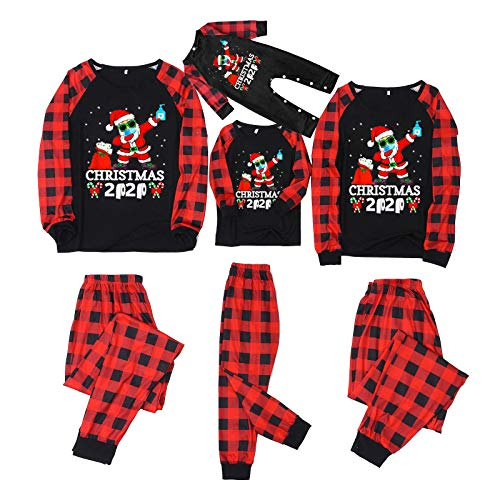 Weihnachtspyjamas Patchwork Pullover Tops+Hosen Strampler, Familien Outfit, Christmas...