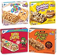 Cereal Bar Variety Pack- Lucky Charms, Cinnamon Toast Crunch, Reese's Puffs, Golden Graham Snack Bars (Variety Pack)