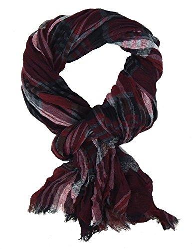 Ella Jonte Écharpes foulard d'homme élégant et tendance de la dernière collection by Casual-style rouge burgund noir