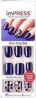 Impress One - Uñas de manicura a presión en gel Step, 30 uñas