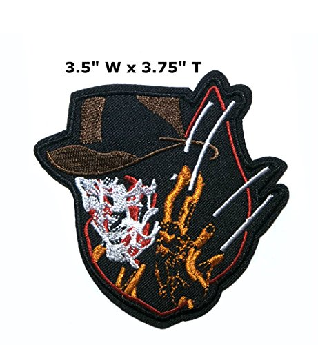 Application classique Halloween Friday the 13th Freddy Kreuger Cosplay badge brodée fer ou Sewn-on Applique Patch