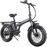 Bicicleta eléctrica de nieve, Plegable bicicleta eléctrica for los adultos, 7 velocidades Shift Montaña bicicleta eléctrica 350W vatios de motor, tres modos de montar a caballo Assist, Pantalla LED bi