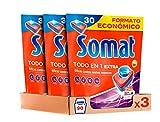 Somat Todo en 1 Pastillas Detergente para Lavavajillas, Pack de 3 x 30...