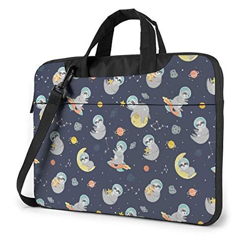 Space with Funny Slo-th Fashion Laptop Case Laptop Shoulder Messenger Bag Sleeve for 15.6 Inch