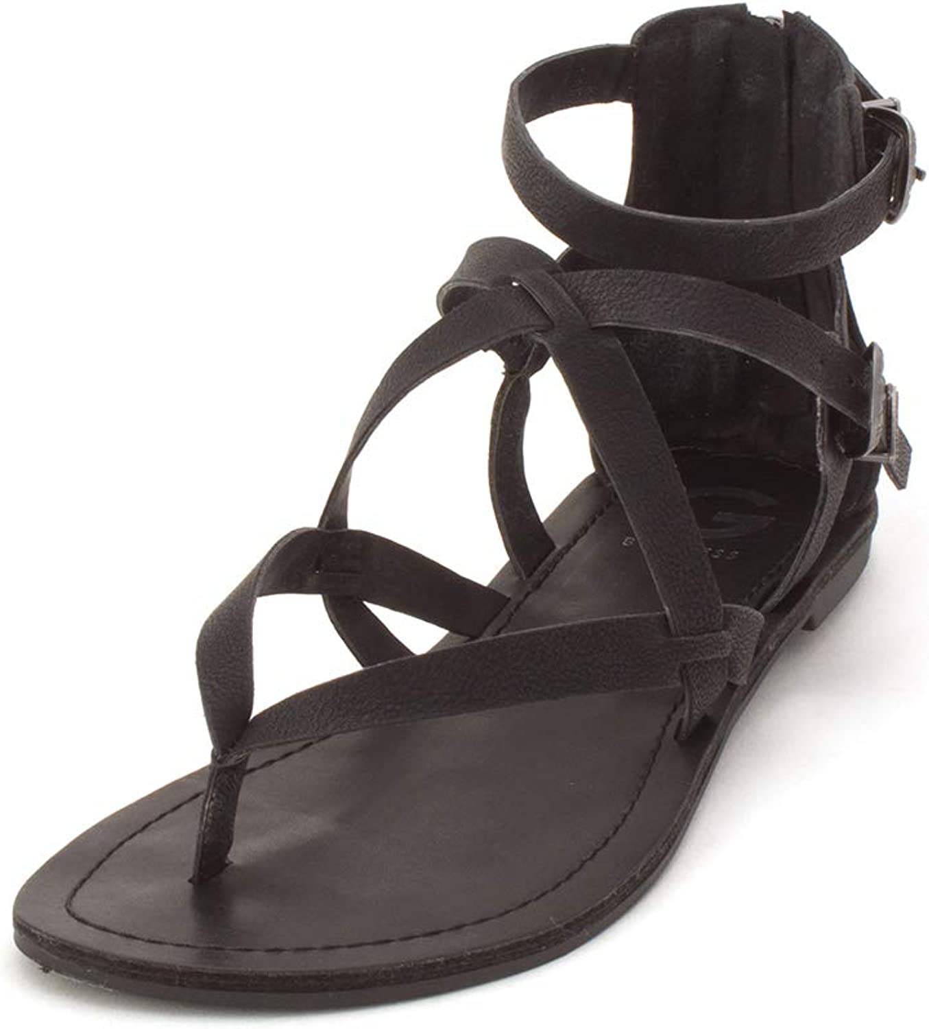 G By Guess Womens Hollee Leather Open Toe Casual Gladiator Sandals