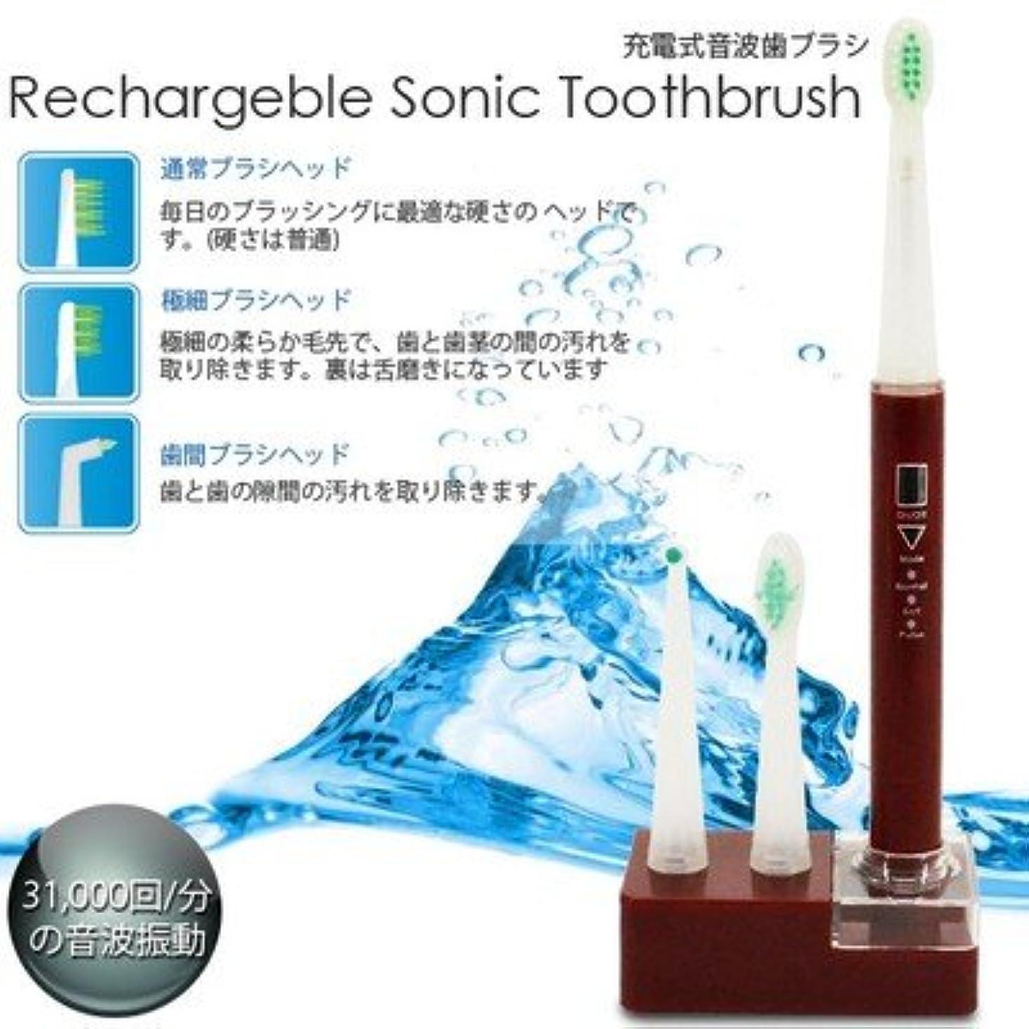 構成する獲物インスタンス美容?衛生/充電式/音波歯ブラシ/3種類/ブラシ付属/RST-2062/赤