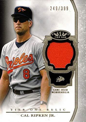 2013 Topps Tier One Relics #TOR-CRJ Cal Ripken Jr. Game Worn Orioles Jersey Baseball Card - Only 399 made!
