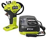 Ryobi P737 One+ 18 Volt Lithium Ion Cordless Power Tire Inflator with P131 18 Volt In-Vehicle Dual Chemistry Battery Charger 2 Piece Bundle (Batteries Not Included, Power Tool and Charger Only)