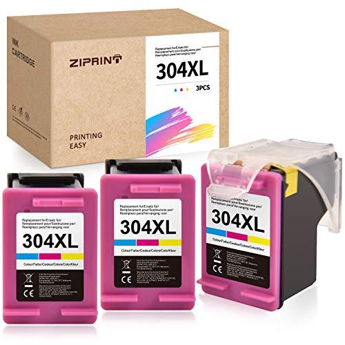 ZIPRINT - Cartucce d'inchiostro compatibili HP 304XL 304 XL per stampante HP Envy 5020 5030 5032 HP DeskJet 3720 3730 3732 3752 3755 3758 3760 (3 colori)