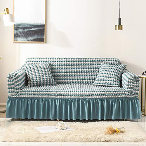 Europäische Art Mode Dicke Blase Stoff Spitze Rand Chaiselongue Sofa Stuhlbezug All-Inclusive-Gummiband rutschfeste Anti-Fouling-Sofabezug