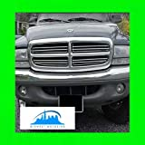 312 Motoring fits 1998-2003 Dodge Durango Chrome Grill Grille KIT 1999 2000 2001 2002 98 99 00 01 02 03 SLT R/T 4X4 Sport Plus