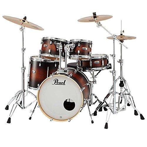 【SABIAN B8X シンバル】Pearl パール DMP905/C-DBX No.260 Satin Brown Burst DECADE Maple COMPACT ドラムセット